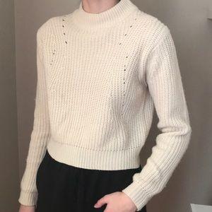 NWOT Cream Sweater, Turtleneck Cream Sweater